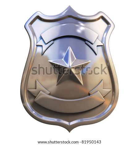 blank badge - stock photo