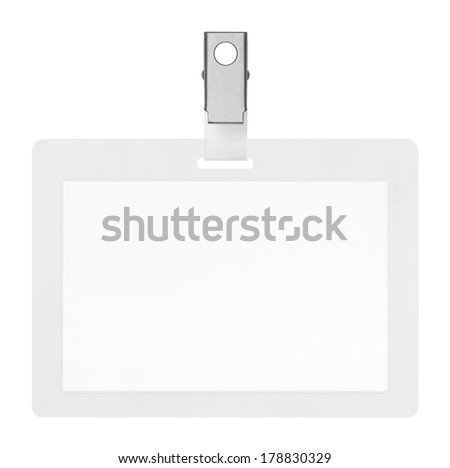 Blank badge isolated on white background