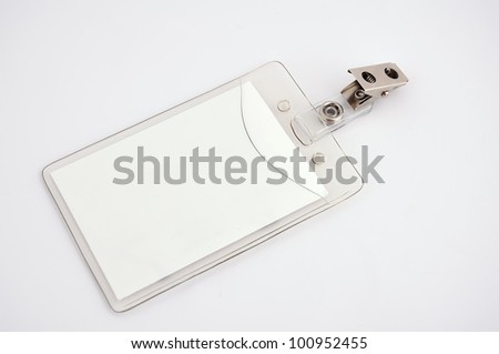 Blank badge on a white background - stock photo