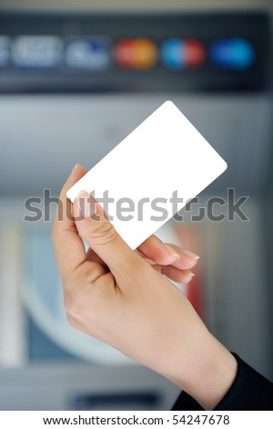 Blank bank card - stock photo