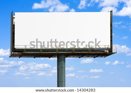 "blank banner for your ad  -  of ""Billboards"" series in my portfolio"