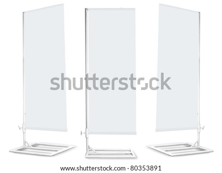 Blank banner japanese flag display template for design work - stock photo
