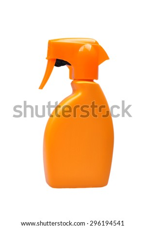 Blank beauty cosmetic care lotion bottle isolated on white background - stock photo