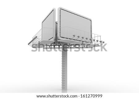 Blank big billboard - stock photo