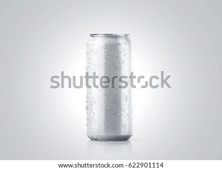 blank big cold aluminium beer can stock illustration 622901114