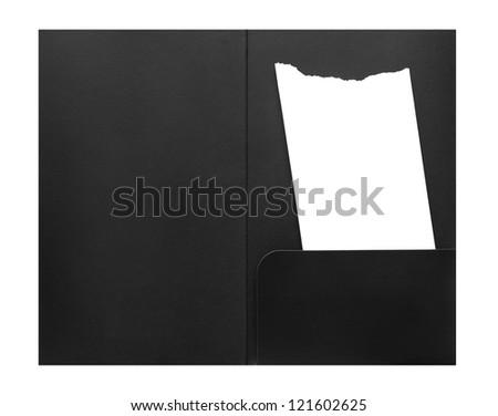 Blank bill receipt in envelope - stock photo