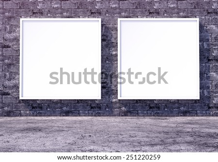 Blank billboard and outdoor advertising. Mock up. 3D photorealistic render - stock photo