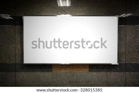 blank billboard/blank billboard/blank billboard - stock photo