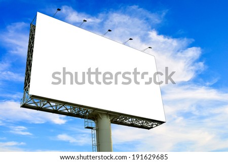 Blank billboard for advertisement