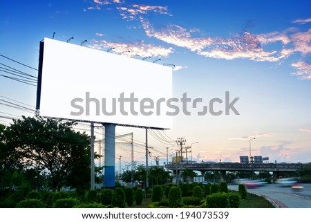 blank billboard for advertising