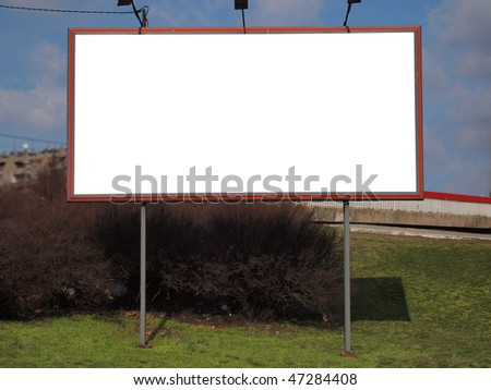 blank billboard for your ad - stock photo