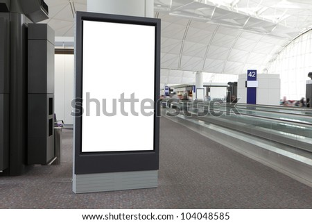 Blank Billboard in airport, shot in asia - stock photo