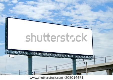 Blank billboard in the city - stock photo