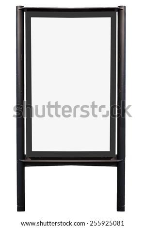Blank billboard isolated on white - stock photo