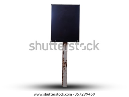 Blank billboard isolated on white background for your advertisement. This has clipping path.