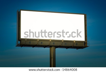 blank billboard, just add your text - stock photo