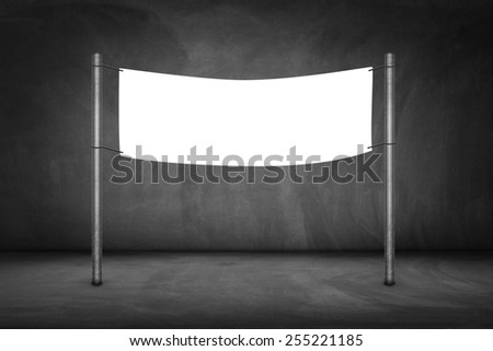 Blank billboard on a bus stop-clipping path of billboard included. - stock photo
