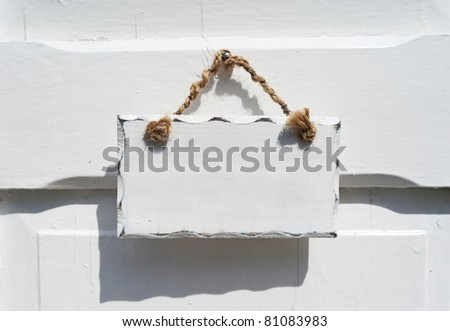 Blank billboard on a house door. You can add you text or graphics - stock photo