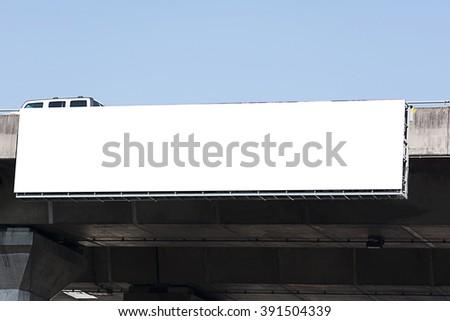 blank billboard on expressway at noon.  - stock photo