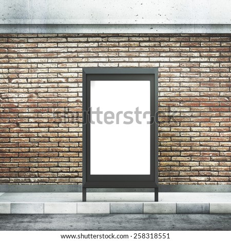 Blank billboard on street - stock photo