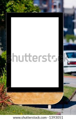 Blank billboard on the street - stock photo