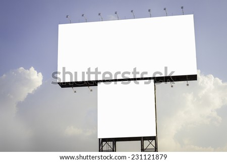 Blank billboard on Useful for your advertisement. - stock photo