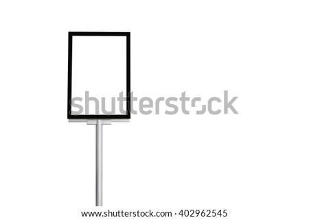 blank billboard on white background - stock photo