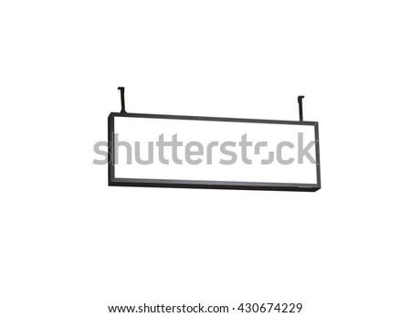 Blank billboard on white background, stock photo - stock photo