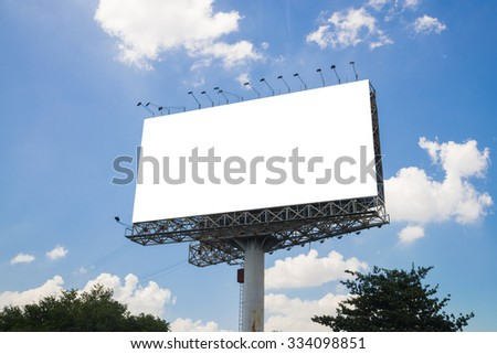 Blank billboard ready for new advertise. - stock photo