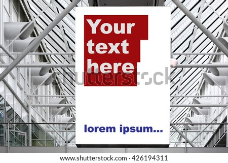 Blank billboard - space for your own text or image - stock photo