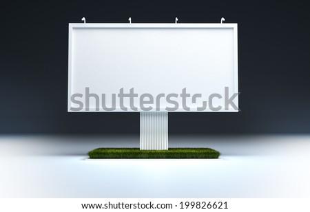 Blank billboard template - stock photo