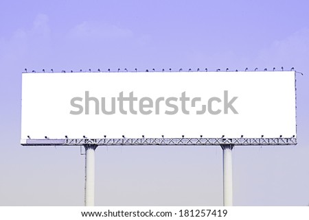 Blank billboard . Useful for your advertisement - stock photo