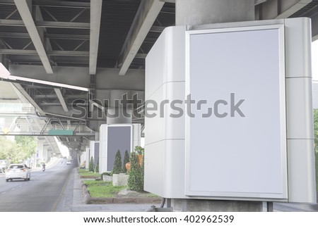 blank billboard with copy space - stock photo