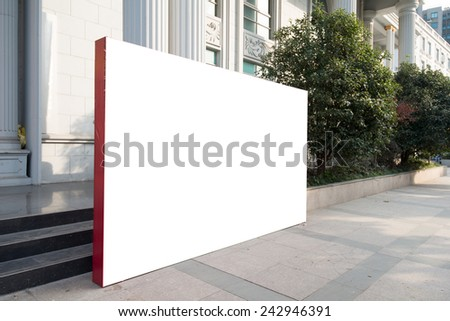 blank billboards on wall, Useful for your advertising. - stock photo