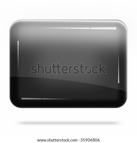 Blank Black Board Float - stock photo