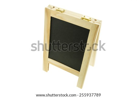 Blank Black board isolated on the white background - stock photo