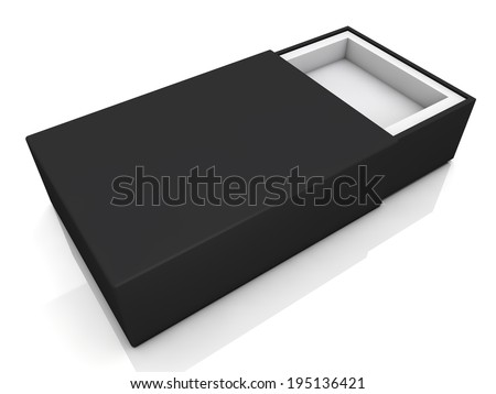 blank black boxes isolated on white background  - stock photo