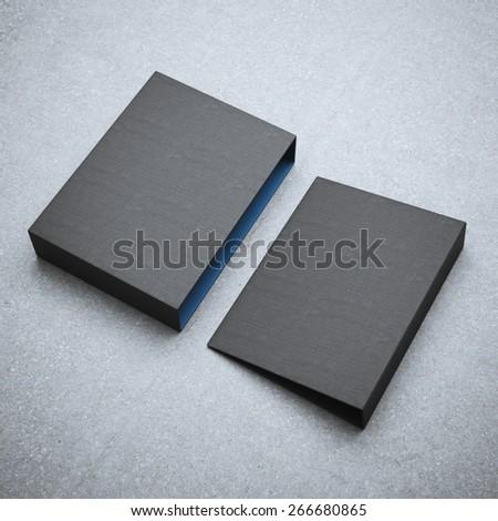 Blank black folder  - stock photo