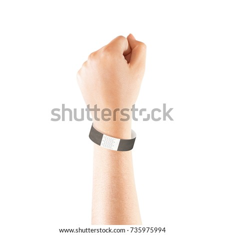blank black paper wristband mock on stock photo royalty free 735975994 shutterstock