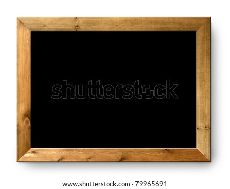 blank blackboard copyspace with wood frame [Photo Illustration] - stock photo
