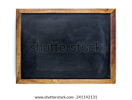 Blank blackboard, empty whiteboard - stock photo