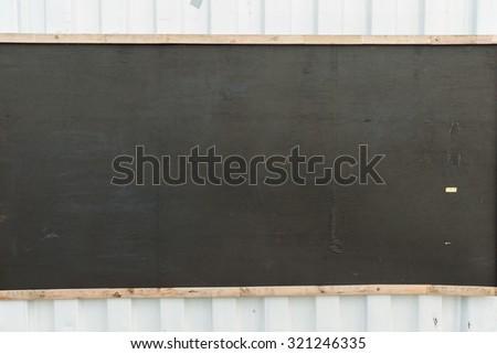 blank blackboard, wooden frame, - stock photo