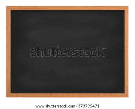 Blank  blackboard wooden frame isolated - stock photo