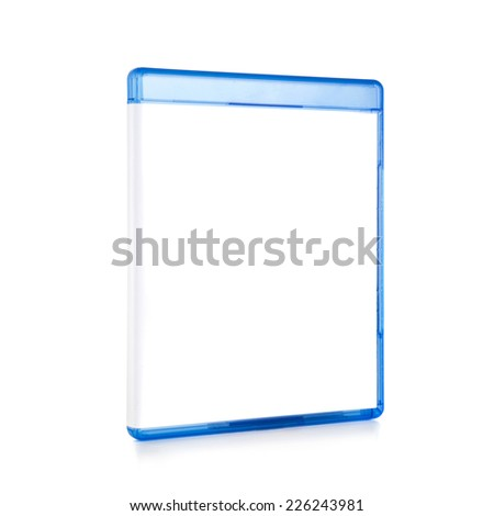 Blank Blu-ray Box Isolated on white with clipping path - stock photo