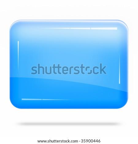 Blank Blue Board Float - stock photo