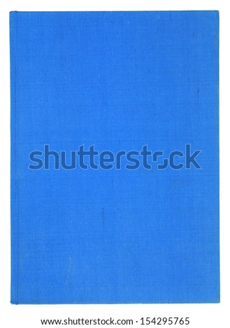Blank blue book cover isolated on white background - stock photo