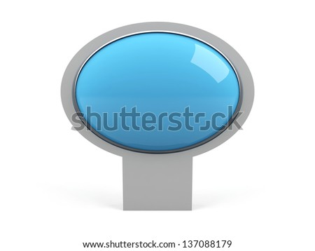 Blank blue isolated on white - stock photo