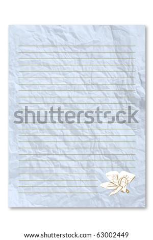 blank blue letter paper on white stock photo 63002449 - shutterstock