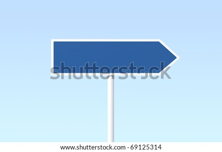 Blank blue road sign - stock photo