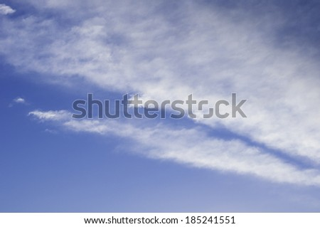 Blank blue sky with clouds